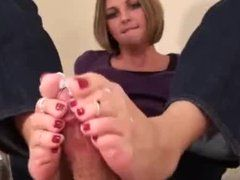 Geiler Sex mit Füßen