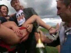 Champagner in der Fotze